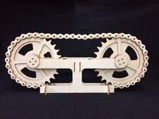 Laser Cut Wooden Chain & Sprockets 3D Model/Puzzle Kit