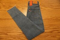 NWT WOMEN'S LEVI JEANS 721 Multiple Sizes High Rise Skinny Stretch Raw Hem $89