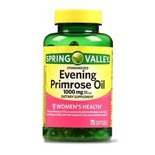 Spring Valley Women's Health Evening Primrose Oil Softgels, 1000mg, 75 Count