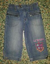 GIRLS Sz 6 Blue Denim LIL BRATZ Shorts CUTE! COOL! ELASTIC WAIST!