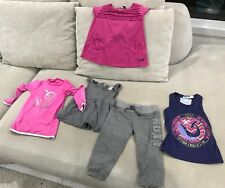 Bundle Girls ROXY Clothes Size 2-3 TRACKIES rashie Shirts Singlets [K1]