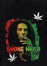 BOB MARLEY SMOKE HERB LONG-SLEEVE LINEN SHIRT / NEVER WORN / EX LARGE