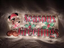 New listing Disney Lighted Glimmer Glow Christmas Minnie Mouse Sculpture Light