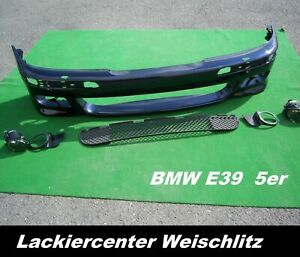 BMW E39 M PAKET STOßSTANGE VORN PDC/SRA LACKIERT + WUNSCHFARBE NEU +ABE