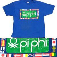 Vintage Hanes BEEFY-T United Colors of Pi Phi Single Stitch T Shirt Men's XL