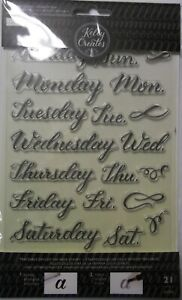 Traceable Days of the Week Clear Acrylic Stamps American Crafts  NIP