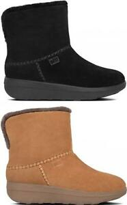 FitFlop MUKLUK SHORTY III Ladies Womens Real Smooth Suede Leather Ankle Boots