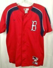 Boston Red Sox Josh Beckett Youth  XL Short Sleeve Nike Button Down Jersey Flaw
