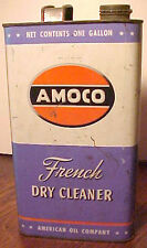 RARE VINTAGE AMOCO FRENCH DRY CLEANER UNOPENED 1 GALLON METAL CAN, GOOD COND.