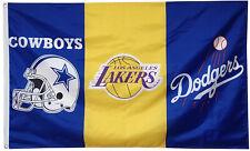 Los Angeles Dodgers/ Lakers /Dallas Cowboys Flag 3x5 ft Banner