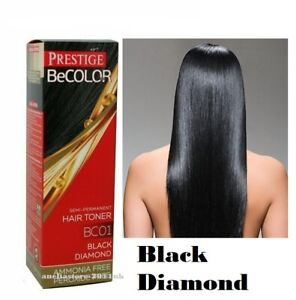 Prestige Be Color BC01 Black Diamond Semi Permanent Hair Toner Ammonia Free