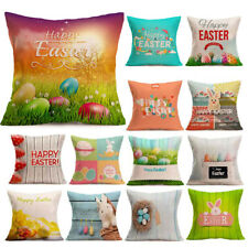 Home Decor Easter Sofa Bed Flax Pillowcase Festival Pillow Case Cushion Cover