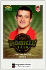 2011 Select NRL Champions Trading Cards Rookie 2010 R44 Jake Marketo (Dragons)
