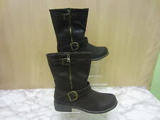 Buckle Flat (less than 0.5') Ankle Boots for Women