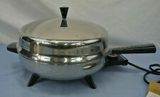 "FARBERWARE 12"" ELECTRIC FRY PAN STAINLESS STEEL 312B"