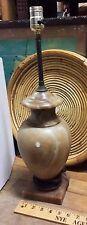 Vintage Heavy Brown Marble Table Lamp Unique Mid-Century Indoor Lighting