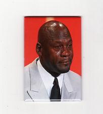 CRYING MICHAEL JORDAN MEME - FRIDGE MAGNET (nike air chicago costacos poster sad