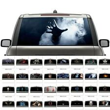 3D Car Back Rear Window Transparent Decal Vinyl Sticker 32 Styles Horror Skull