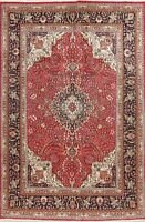 Red Traditional Medallion Oriental Area Rug Wool Hand-Knotted Floral Carpet 6x10