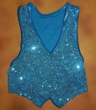 NWOT Dance Sequin Front pullover Lycra back Vest Unisex Small Child
