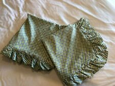 Two (2) LAURA ASHLEY Euro Pillow Shams Poppy Meadow Lattice