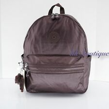 NWT Kipling BP4194 Bouree Backpack School Bag Nylon Popping Purple Metallic $114