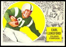 1960 TOPPS CFL FOOTBALL 26 EARL LUNSFORD NM CALGARY STAMPEDERS OKLAHOMA COWBOYS