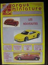ARGUS DE LA MINIATURE 142 FEV 1992 BUGATTI , MERCURY , JRD , VEREM
