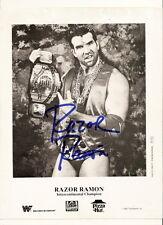 razor ramon Autographed Promo Photo wwf wcw wwe awa Scott Hall
