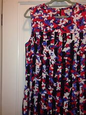 Peter Pilotto For Target New Red Floral Optic L Ruffle Hem Sleeveless New