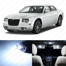 10  x Xenon White LED Interior Light Package For 2005 - 2010 Chrysler 300 300C