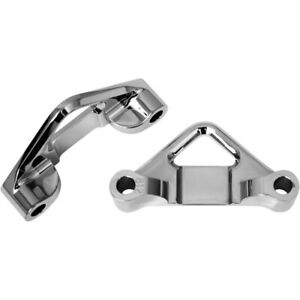 """Accutronix 0.8125"""" Chrome Hot Legs Bagger Legs Fender Spacers for Harley Touring"""
