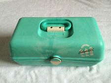 Caboodles Train Case #2630 Vtg Large Make Up Case Craft Organizer Mint Mirror