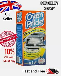 Oven Pride Complete Oven Deep Cleaner 500ml Includes Bag Cleaning Oven Racks