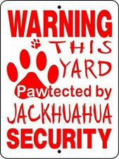 Jackhuahua Dog Security Decal Only 9 x 9