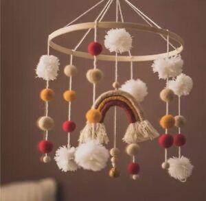 Wooden Baby Mobile, Boho, Handmade, Nursery Decor, Cot/crib Mobile