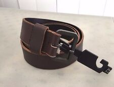 NEW! Nordstrom Men's TULLIANI 69822 Genuine LEATHER Top Stitch Belt, 42 - Brown