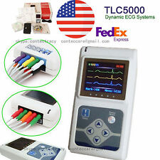 2-5 DAYS Delivered 12 Channel ECG/EKG Holter Dynamic Recorder/Analisis+SW,CE,FDA