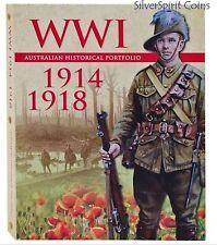 1914-1918 WORLD WAR I AUSTRALIAN  PORTFOLIO 1914-1918 Coin Medal Collection