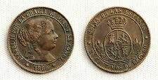 ISABEL II. 2 1/2 Centimos de Escudo. 1868. Barcelona. EBC-/XF-. Cobre 6,3 g.