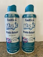 2 Cans Faultless 10 Oz Magic Wrinkle Releaser No Iron Needed Quick Dry Spray