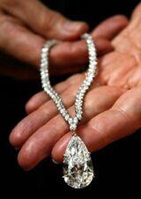 Elizabeth Taylor Inspired Pear Necklace 100 ct Estate Solid Sterling Silver Gift