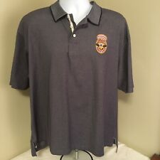 Camp David Mens Polo Shirt Gray Cotton Blend XL Newcastle Brown Ale Free Ship!
