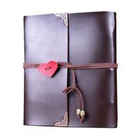 Scrapbook,Leder Fotoalbum Retro Album Hochzeit DIY Vintage Scrapbook Schwarze OE