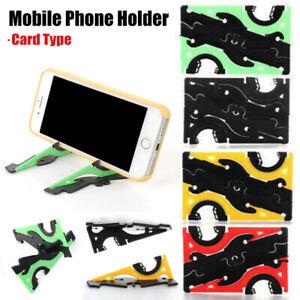 Adjustable Foldable Card Type Moble Phone Holder Tripod Mount Grip Pocket Size