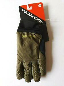 Hawke & Co Lightweight Nylon Gloves Mens Large / XL Olive Green $48