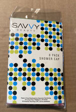Savvy Beauty 8 Pack Shower Caps New