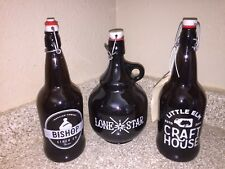 (3) EMPTY KEEPSAKE BREWERY BOTTLES ~LONE STAR, CRAFT HOUSE AND BISHOP~