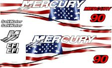 MERCURY 90 USA MOTOR STICKERS DECAL KIT ENGINE