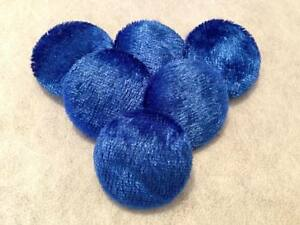 Blue Crushed Velvet Buttons, 16mm, 20mm, 25mm, 31mm 37mm, Small, Medium & Large